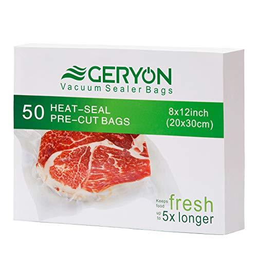 GERYON Vacuum Sealer Bags, Pre-Cut Food Sealer...