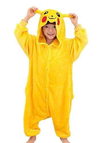 Tonwhar??Pikachu Kigurumi Costumes for Children Kids Cuddly Onesie Pajamas...