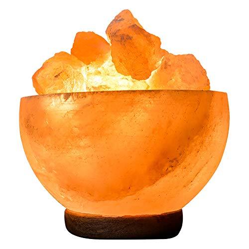 Sourcediy® 100% authentische Salz-Feuerschale aus natürlichem Himalaya-Kristall, Steinsalz, hochwertig, Rosa, 10