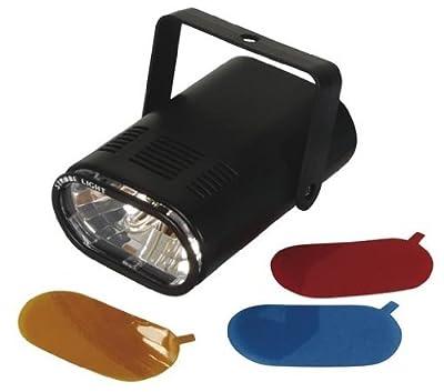 HQ Power VDL25ST 25 W Mini Strobo Light with 3x Interchangeable Colour Filters