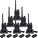 Retevis RT47V MURS Radios License-Free, Real Waterproof Walkie Talkies IP67, No Channel Traffic Jam, Clear Sound Two Way Radios for Commercial(6 Pack)