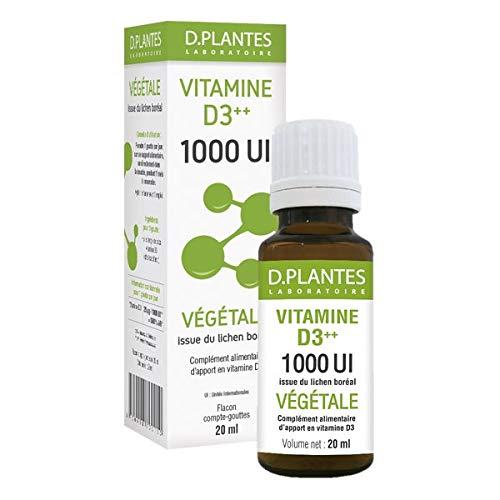 Vitamine D3 végétale 1000 UI - Flacon 20ml D-Plantes