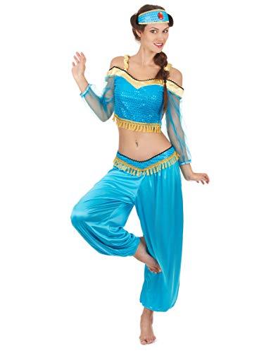 DEGUISE TOI Déguisement Danseuse Orientale Bleue et Or Femme - M
