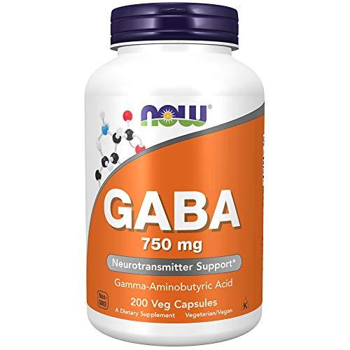Now Foods Gaba, 750Mg - 200 Cápsulas