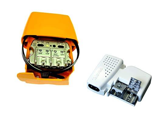 Kit Amplificador DE MASTIL 30DB + Mezcla SATELITE +Fuente DE ALIMENTACION TELEVES Ref. 561621 + 5796 (Lte2 700 MHz 5G)