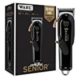 Wahl Professional - 5 Star Series Cordless Senior Clipper with Adjustable Blade, Lithium Ion Battery with 70 Minute Run Time for Professional Barbers and Stylists - Model 8504-400
