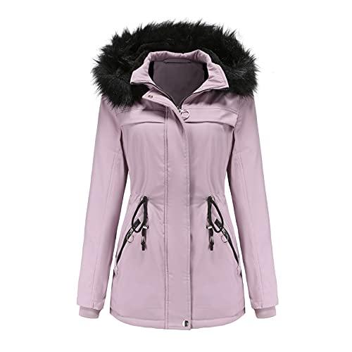 Chaqueta de felpa para mujer con capucha, chaqueta de invierno, chaqueta de peluche, chaqueta con capucha, abrigo de lana artificial, abrigo de punto, chaqueta de punto, abrigo de felpa cálido