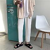 WoJogom Pantalon Droit plissé Pantalon Taille élastique décontracté pour Hommes 2021 Pantalon Homme Ample d'été Tissu de Soie glacée