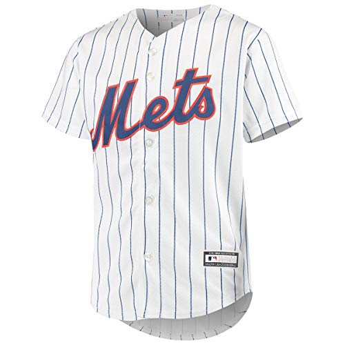 New York Mets Blank White Youth Cool Base Home Team Jersey (Large 14/16)