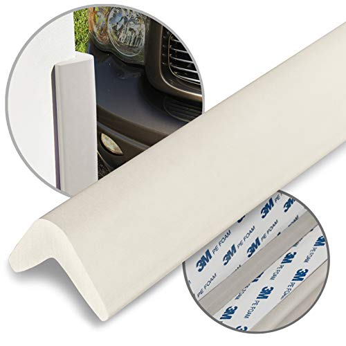 urbanhouse Ultra High-Density Heavy Duty Corner Guard Edge Protector & Bumper for Parking Garages, Workshops and Warehouses - Neutral Off White, 24 Inches - 1 Each