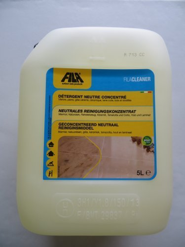 Fila CLEANER Fila Solutions 5 Liter Universal cleaner for terracotta, porcelain, glazed ceramic, clinker, cement, wood, natural stone, granite, agglomerates, tumbled marble, stones and pebbles. by Fila Industria Chimica Spa