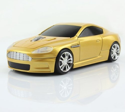 Klein Design FTD-MS136 Aston Martin style draadloze optische muis Goud