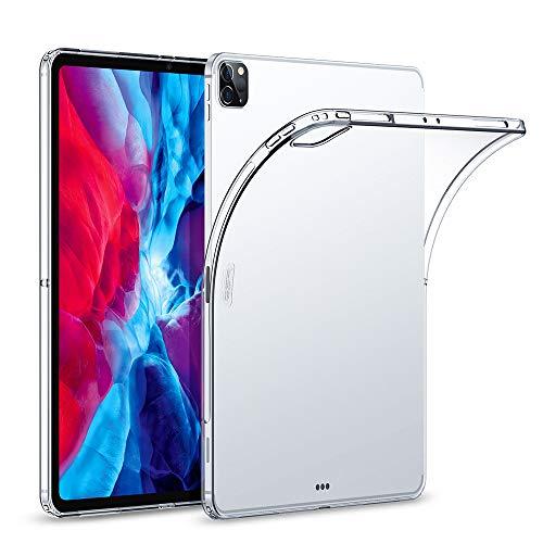 "ESR Hülle kompatibel mit iPad Pro 12,9"" 2020, Klare TPU Rückseitenabdeckung, Unterstützt kabelloses Laden für Apple Pencil, Dünne Rebo& Soft Hülle, Klar"