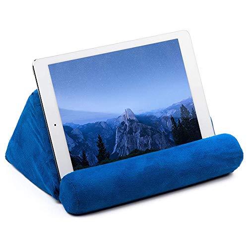 Tablet Keilkissen Tablet Ständer Kissen Halter Tablett Sofa Kissen Tragbar Weiche Dreieck Tablet Ständer kann verwendet werden auf Bett, Boden, Schreibtisch, Lap, Couch blau