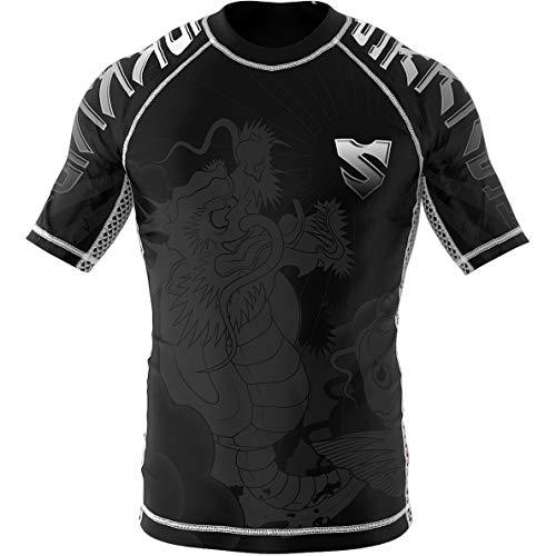 SMMASH KOI Rashguard Hombre Manga Corta, Camisetas Hombre para MMA, Artes Marciales,...