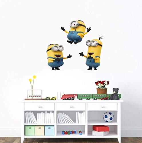 Cartoon Despicable Me - Minions - Abnehmbare Wandtattoo Aufkleber Kunst Home Decor Kinderzimmer