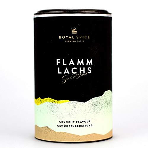 Royal Spice Flammlachs Gewürz - 100g Dose - Lachs Rub für knusprige Kruste mit Meersalzflocken, feinster Fisch vom Grill, Holz, der Planke oder in der Pfanne