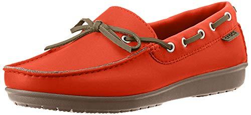 CROC Womens Wrap ColorLite Loafer Shoes, Tangerine/Tumbleweed, US 8