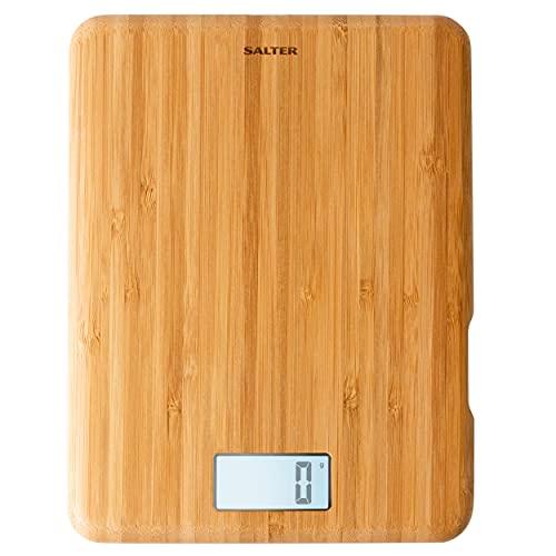 Salter Eco Balance de cuisine digitale rechargeable – Fabriquée avec des matériaux respectueux de l'environnement – Grand écran rétro-éclaire LCD