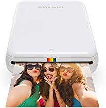 Zink Polaroid ZIP Wireless Mobile Photo Mini Printer (White) Compatible w/ iOS & Android, NFC & Bluetooth Devices