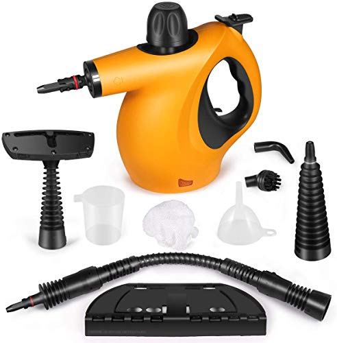 Pressure Steam Cleaner, Car Cleaning Portable Handheld Steamer Cleaner with 9-Piece Accessories Chemical-Free Cleaning for Home Use Furniture Car