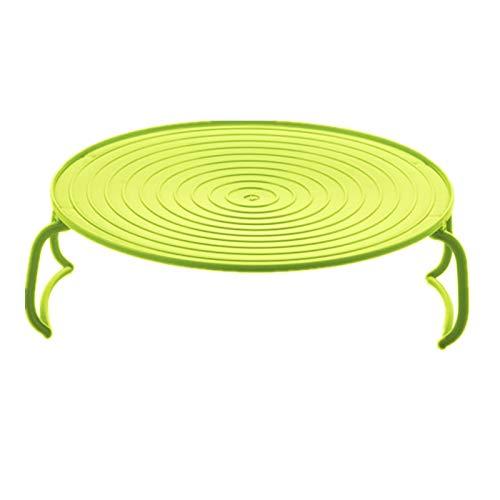 shuibaobao Accesorios de cocina de silicona para microondas y verduras para cocinar alimentos, bandeja de vapor (color: verde)