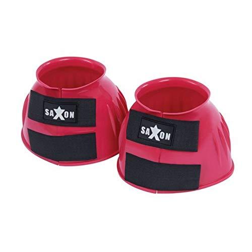 Saxon PVC Ripp Hufglocken mit Doppel-Klettverschluss (Pony) (Pink)