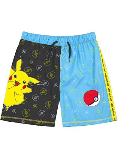 Pokémon Badeshorts Jungen Pikachu Badehose Trunks Kids & Teens 7-8 Jahre