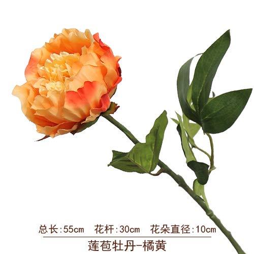 yueyue947 Flor de peonía de Flor Artificial/Ramo de Bricolaje/Fiesta de Bodas/Baby Shower/decoración de hogar peonía - Rosa roja 2 varas