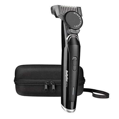 BaByliss MEN T881E Barbero eléctrico, recortadora de barba masculino, uso con/sin cable, 23 longitudes de 0.5 a 12 mm y 60 minutos de autonomía, neceser.