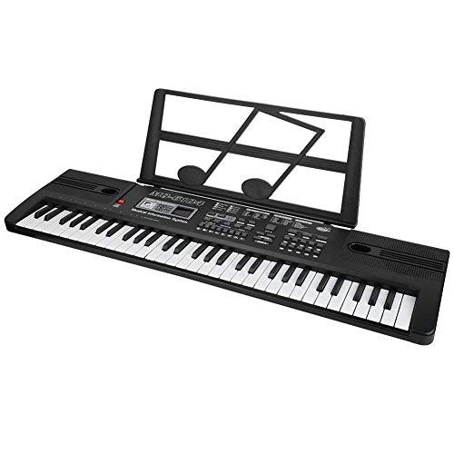 Wakects Piano eléctrico para órgano, mini teclado piano musical de 61 teclas...