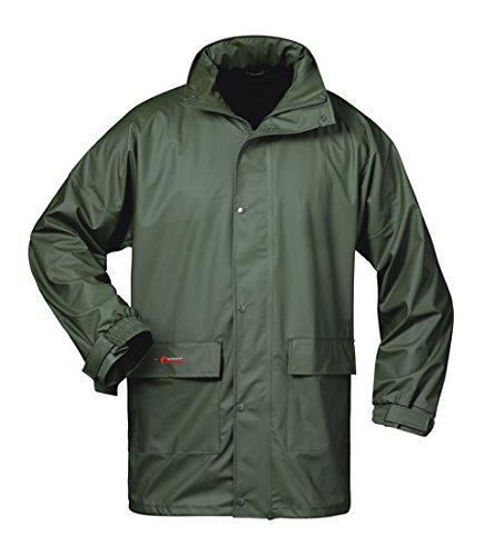 Norway PU Regen-Jacke mit Kapuze - Oliv - Größe: M