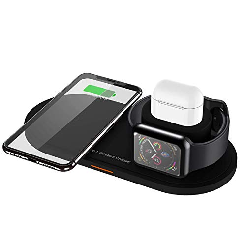 3-in-1 Wireless Charging Station Apple Watch Airpods 2 pro Qi Fast Wireless Charger Dock Stand for iPhone 11 pro Max Xs XS Max XR X 8 8P USB Charger ipad Apple Watch Samsung Wireless Charger