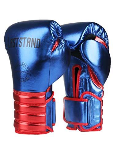 HJJREN 6-12 Unze Großhandel Mikrofaser Leder Boxhandschuhe Erwachsene Frauen Männer MMA Gym Training Grant Boxhandschuhe Ausrüstungen Blau