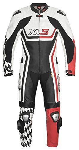 XLS Lederkombi Racing Einteiler Mod. EOS schwarz rot einteilig Motorradkombi Leder (50)