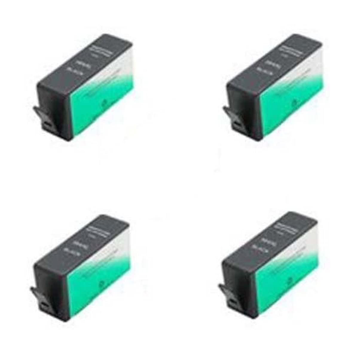 マエストロ救援優しいAmsahr 564XLBK(CN684WN) HP CN684WN B8550 C5380 Remanufactured Replacement Ink Cartridges 4-Pack Black [並行輸入品]