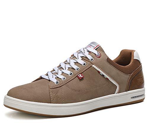 ARRIGO BELLO Zapatos Hombre Vestir Casual Zapatillas Deportivas Running Sneakers Corriendo Transpirable Tamaño 40-46 (46 EU, marrón)