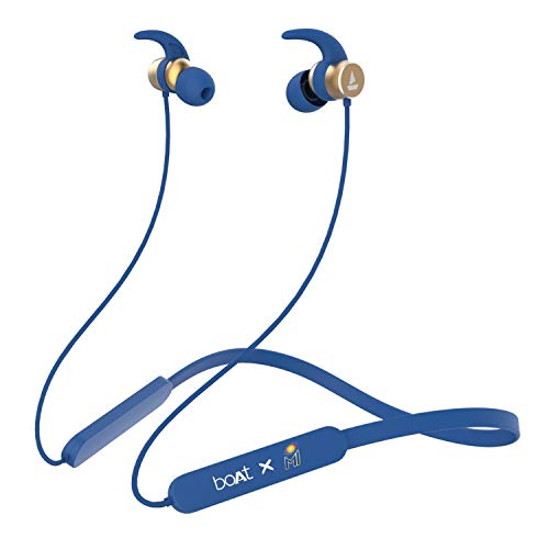 Boat Rockerz 255 Mumbai Indians Edition Wireless Headset with Super Extra Bass, IPX5 Water and Sweat Resistant, Qualcomm Chipset and Upto 6H Playback(MI Blue)