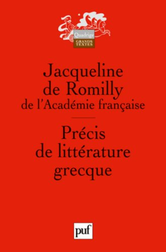 Précis de littérature grecque