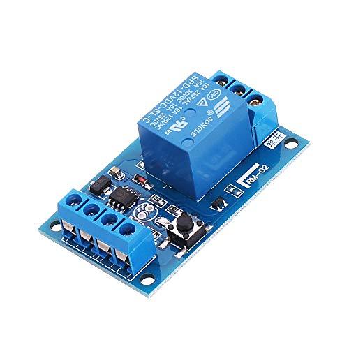 LICHONGUI 3 unids 12V DC 10A Módulo de retransmisión biestable para el Interruptor de modificación de automóviles de un Solo botón Start-Stop Auto-Bloqueo
