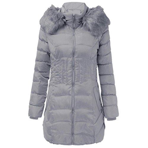 GreatestPAK dames outwear, wintermode, lang, warm, katoen, dun, parka trenchcoat