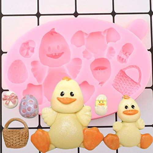 UNIYA 3D Duck Silicone Mold Animals Egg Cupcake Topper Fondant Molds DIY Party Cake Decorating Tools Candy Chocolate Moulds