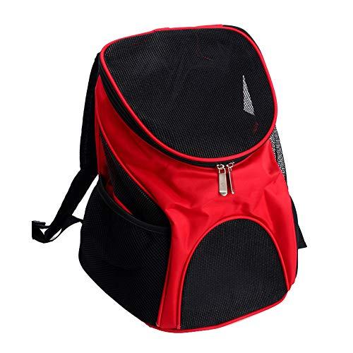 ZWW Kat en Hond Rugzak, Draagbare Lichtgewicht Ademende Top Laden Travel Carrier Bag koffer voor huisdieren tot 3 Kg