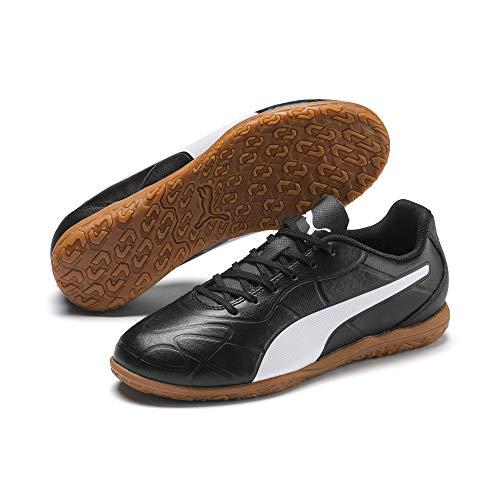 PUMA Monarch IT Jr, Zapatos de Futsal Unisex Niños, Black White, 34 EU