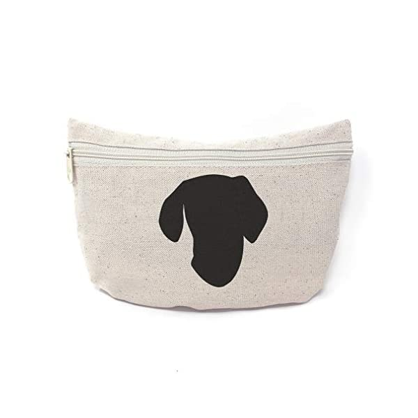 Custom Canvas Makeup Bag Ariege Pointer Silhouette School Supplies Pencil Tote Pouch 9x6 Inches Natural Design Only 1