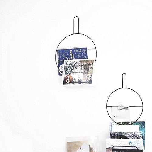 Anaan Circle Design wandkrans ring eucalyptuskrans krans handdoekhouder van metaal zwart wanddecoratie deurdecoratie