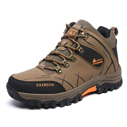 Shoe - Zapatillas de senderismo para exteriores, ligeras, impermeables, transpirables, antideslizantes, estilo informal, para correr, de caña alta, color caqui 39