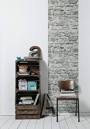 Livingwalls 368461 selbstklebendes Pop.up Panel 3D Tapete, Weiß, Grau