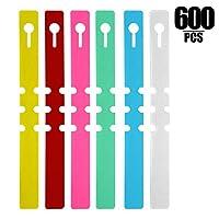KINJOEK 600 PCS 6 Colors Plant Labels, PVC Plant Tags for Garden Adjustable Waterproof Plant Tags