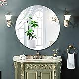 Bidet Einsatz für Toilette Explosionsgeschützte Frameless Runde Badezimmerspiegel, Schminkspiegel, Schminkspiegel, Hängen Spiegel, Industrie Wind Badezimmer Dekorative (Size : 40X40CM)